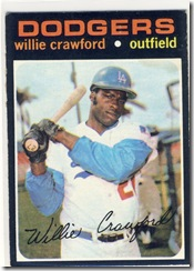 Topps 71 Willie Crawford
