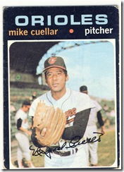 Topps 71 Mike Cuellar