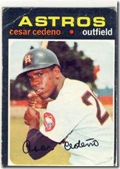 Topps 71 Cesar Cedeno