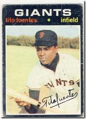 Topps 71 Tito Fuentes