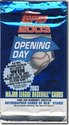 Topps 2003 Opening Day Pack