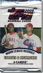 Topps 2005 Updates & Highlights