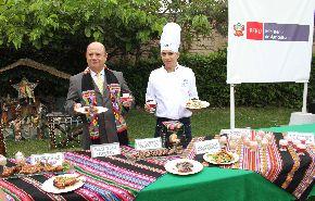 Platos elaborados a base de insumos andinos como alternativa al clásico pavo horneado presentó el sector Agricultura. Foto: Ministerio de Agricultura.