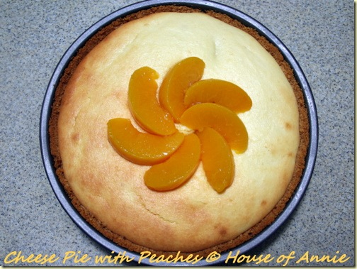 cheese pie with peaches