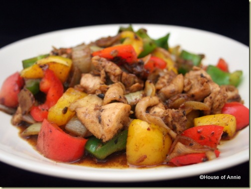 black bean chicken and peppers