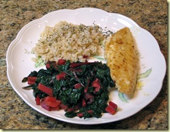 basic sauteed swiss chard