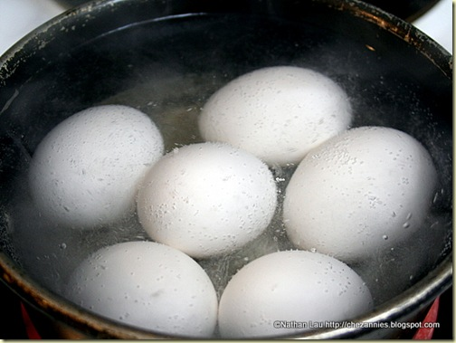 hard boiled eggs for tau yu bak