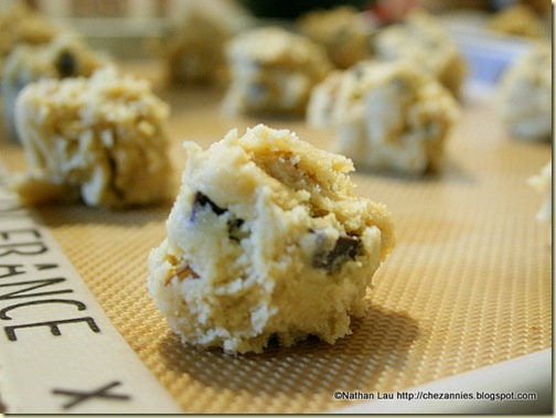 chunky ball of chocolate chip cookie dough