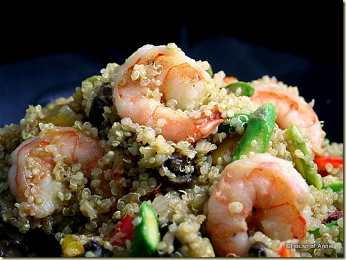 Quinoa Salad with Shrimp and Asparagus