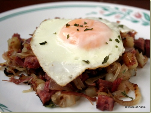 Corned Beef Hash with Fried Egg