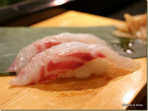 Red Snapper Sushi at Sakae Sushi in Burlingame