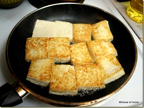 Frying Tofu Blocks