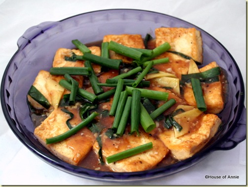 Hong Siew Braised Tofu in Wine Sauce