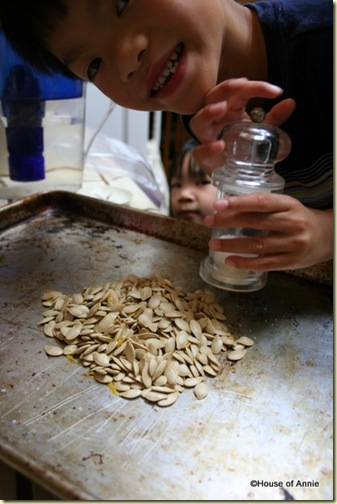 salting pumpkin seeds