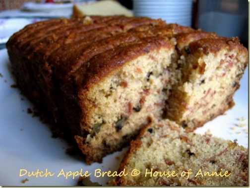dutch apple cake sliced