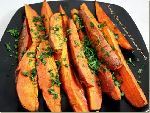 honey-glazed yams sweet potatoes baked