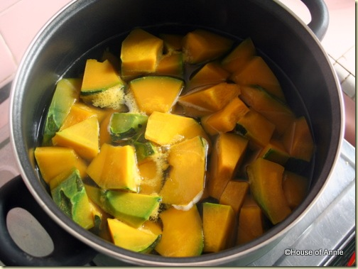 simmering kabocha