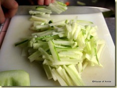 cucumber matchsticks