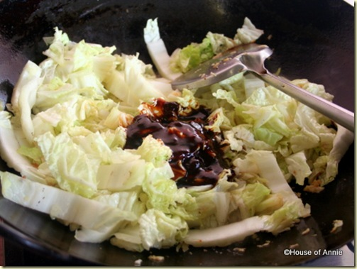 napa cabbage with hoisin sauce