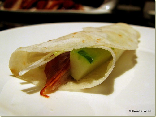 imperial treasure peking duck wrap