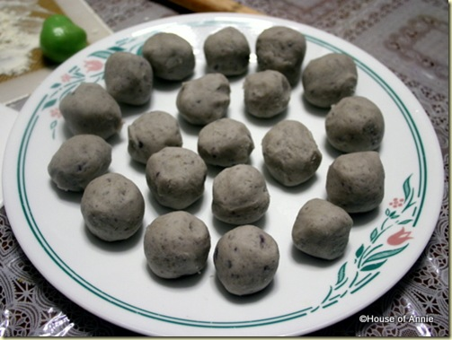 taro balls filling for spiral moon cakes