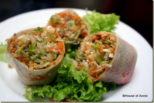 popiah using freshly made skins