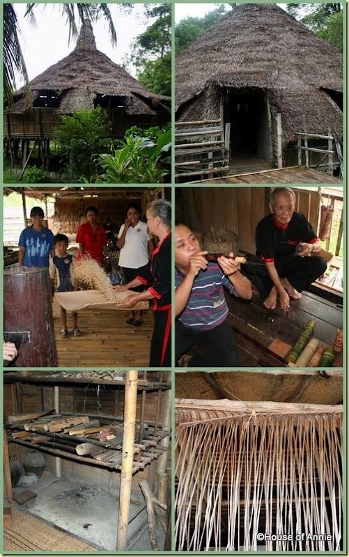 Sarawak Cultural Village Bidayuh house