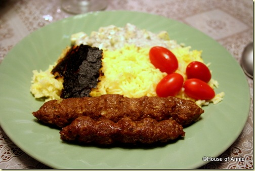 Persian Rice and Kebabs