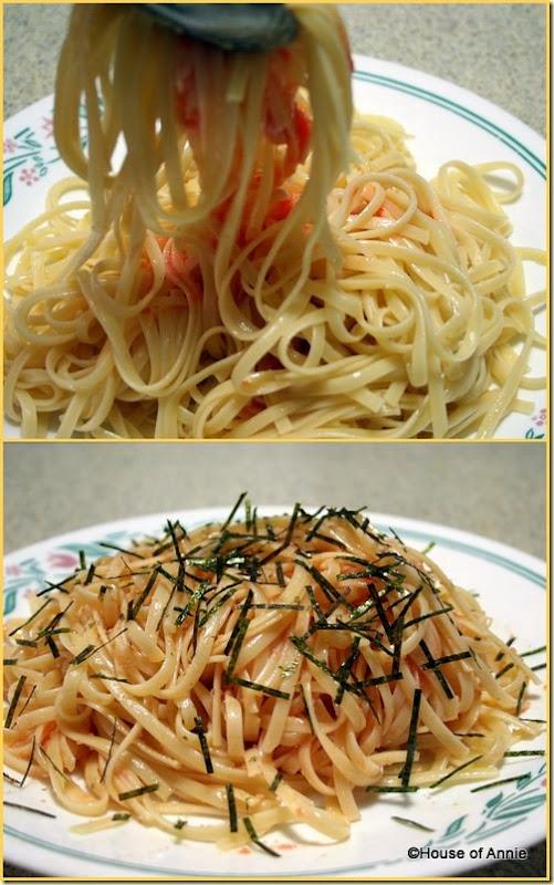 Tossing Tarako Cod Roe Spaghetti