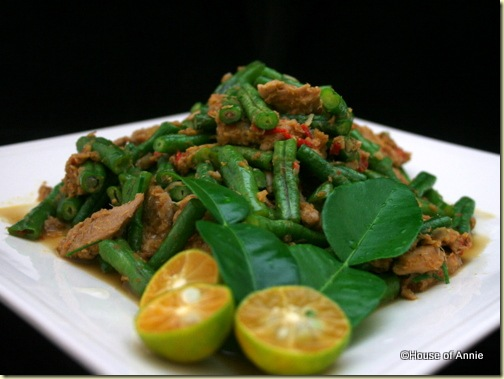 Stir-fried Pork with Long Beans