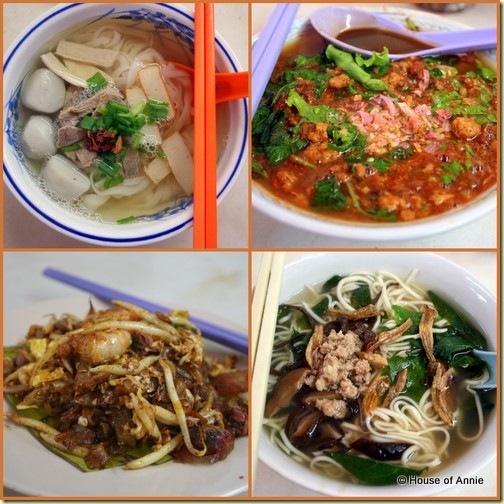 kway teow th'ng   assam laksa   char kway teow   pan mee from mandarin cafe island glades penang