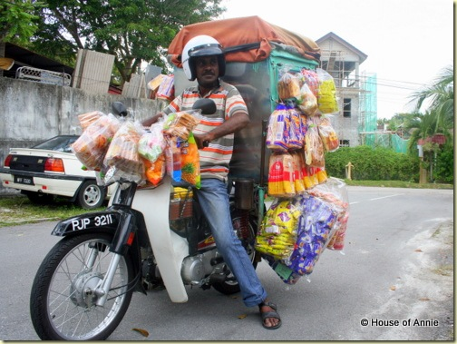 Bakery on a motorbike in Penang