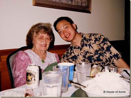 Grandma Lau and me