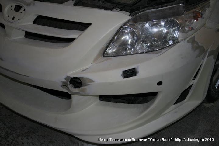 Установка обвеса на Toyota Corolla