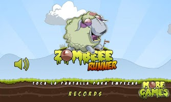 Screenshot of Zombeee Runner