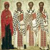 Избранные святые_ Параскева Пятница, Григорий Богослов, Иоанн Златоуст, Василий Великий. Начало XV в.jpg