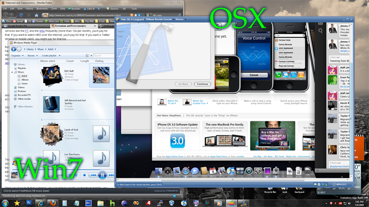 OSX Leopard on Windows 7
