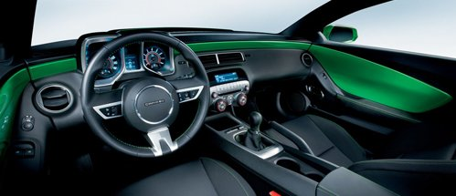 Interior of Chevrolet Camaro