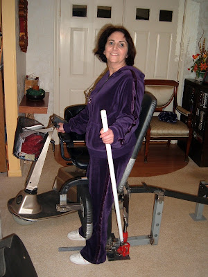 Mom in Custom Standing Frame