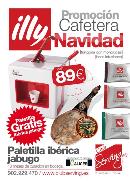 Promoción Cafetera Navidad, con Illy