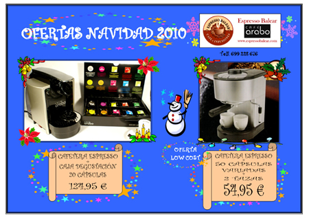 Ofertas Navidad 2010 Espresso Balear
