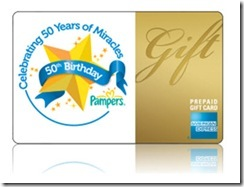 Pampers - 50 gift card AMEX (2)