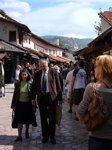 Baščaršija, a Famous Street / Neighborhood in the Old Turkish Quarter
