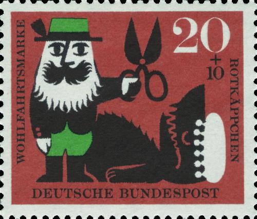 Timbre allemand à l'effigie du Petit Chaperon Rouge - 1960