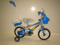 Sepeda Anak EVERGREEN DL80 DARKMAN Tongkat 12 Inci in Blue