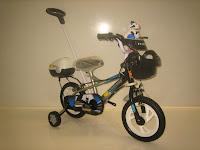 Sepeda Anak EVERGREEN DL80 DARKMAN Tongkat 12 Inci in Black