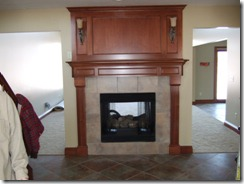 stained fireplace