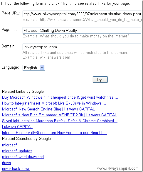google related links