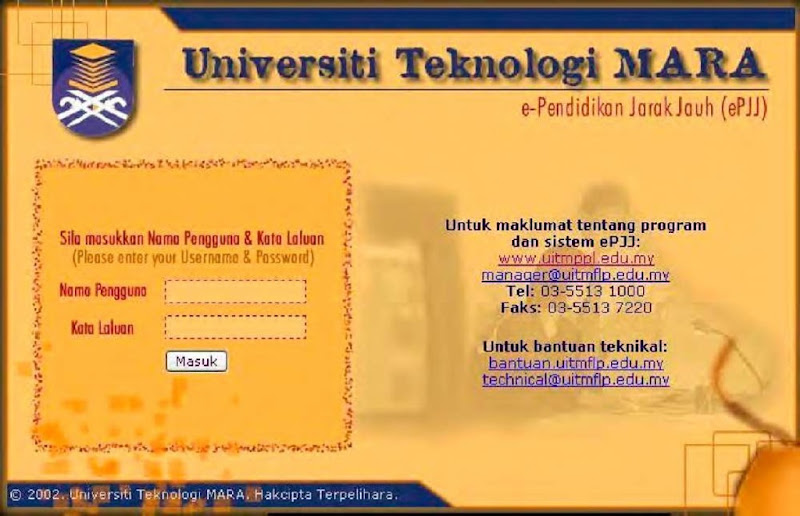 Portal of UiTM's e-DE 