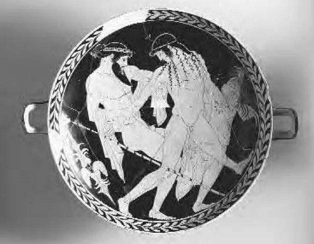 Homosexuality, as this painting of Zeus abducting Ganymede depicts, was common in ancient Greece and served as a form of population control.